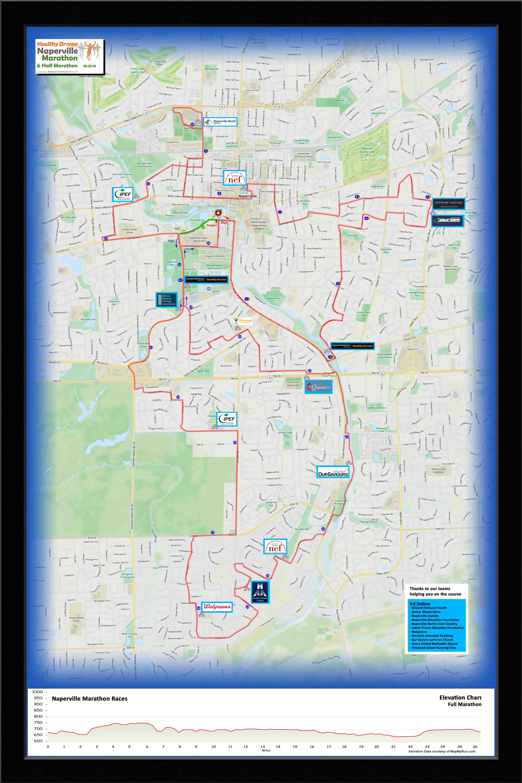 Naperville Marathon Course 2016-05-17